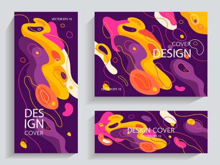 Liquid abstract brochures in vibrant colors