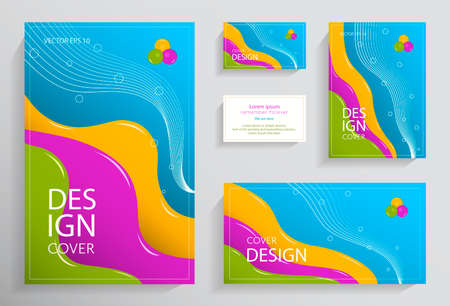 Set of liquid colored coatings. Colorful liquid shapes with gradients. Fashionable design. Ideal for advertising, invitations, presentations or holidays. Eps10 vector Stok Fotoğraf - 131364515