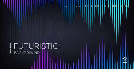 Abstract music equalizer. Peak equalizer on black background. Sound wave.
