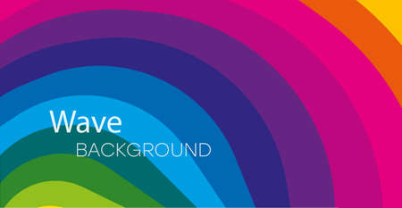 Abstract colorful background. Rainbow waves abstract banner design.