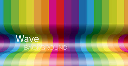 Abstract wavy background. Multi-colored waves curving inward. Abstract banner design. Ilustrace