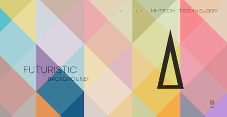 Minimal geometric background. Dynamic composition of multicolored shapes with transparent lines. Abstract background modern hipster futuristic drawing. Vector abstract background texture design, bright poster, banner