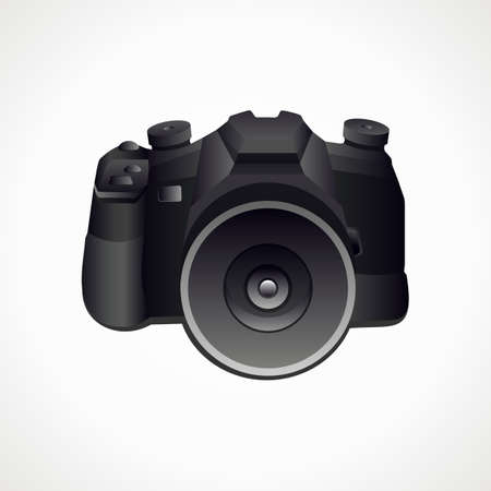 Camera 3D. Vector format. Photography. Vector