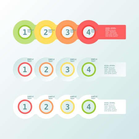 infogaphics: Infogaphics simple. 4 steps - 4color.