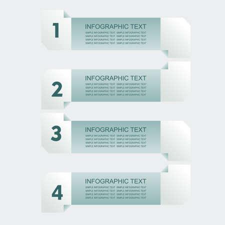 Infogaphics simple. 4 steps - green color. vector format. Vector