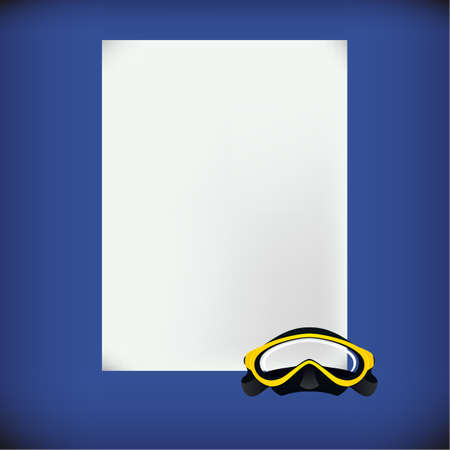 catalogs: White blank - Diving form. Vector format.