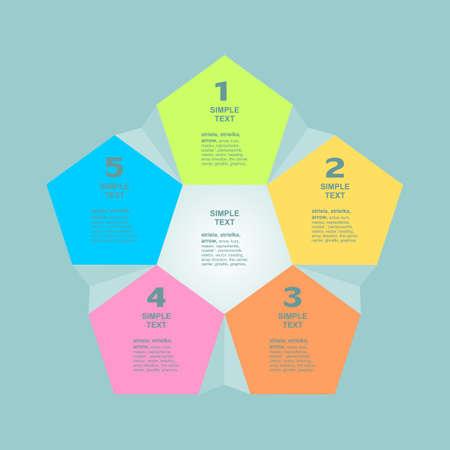 Infogaphics 5 steps. vector format. Illustration