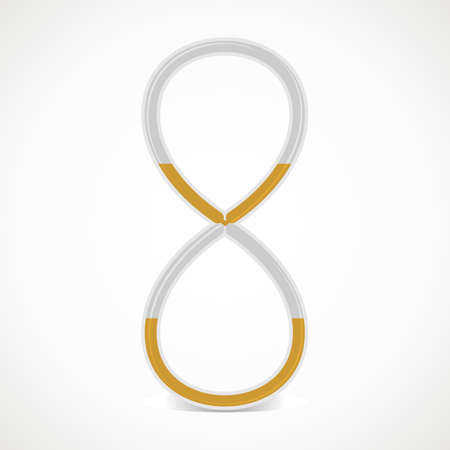 signo de infinito: reloj de arena con forma de signo infinito. Vectores