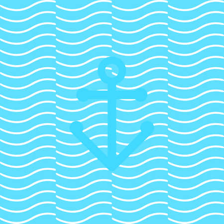 anchored: anchored on the waves. seamless. vector format