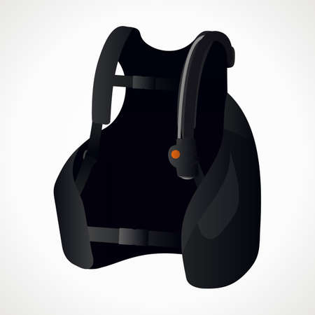 diving vest. scuba gear. vector format
