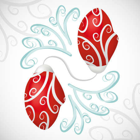 mittens: Mittens of Santa Claus with a pattern. vector format. Illustration