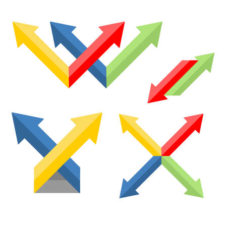 web site: set of arrows - for the web site. vector format. Illustration