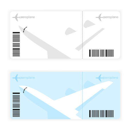 flight ticket: a plane ticket for tourists, white, vector format.