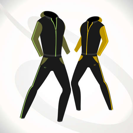 duffle: fashionable, sporty suit for fitness.