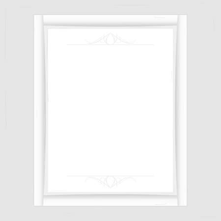 underlying: White Frame for photo and information. vector format.