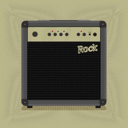 fortalecimiento: combo de rock por la m�sica. formato vectorial; Vectores