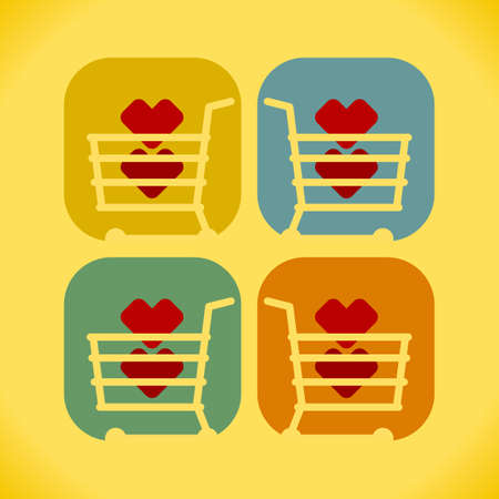 purchase icon: favorite purchase icon. vector format. Illustration