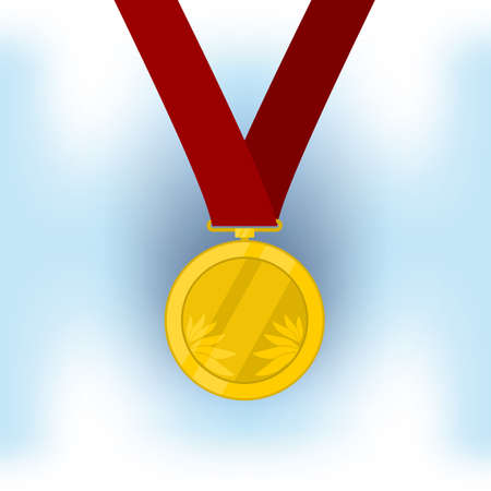 participate: Champion medal for the winner. vector format. Illustration