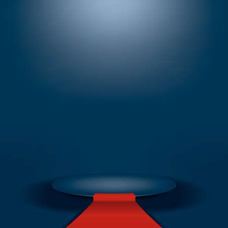 awards ceremony: Empty podium with red carpet. vector format