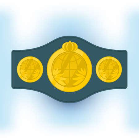 participate: Belt champion boxer. vector format.