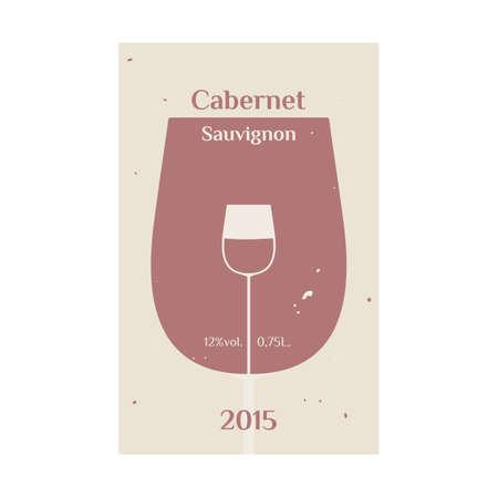 sauvignon: Cabernet Sauvignon label for wine. vector format. Illustration