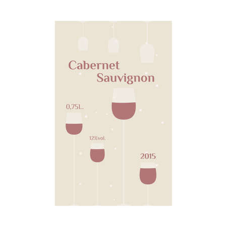 cabernet sauvignon: Cabernet Sauvignon label for wine. vector format. Illustration