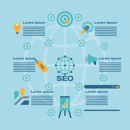 web site: seo infographics for the Web site. vector format.