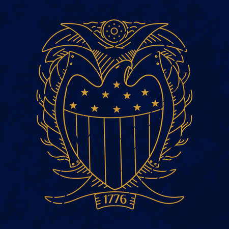US eagle emblem, in any color. vector format. Vector