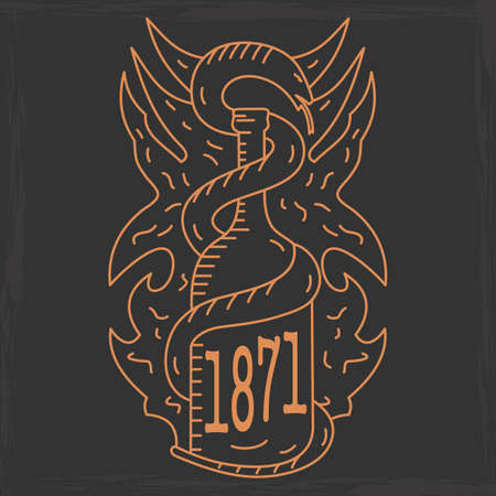 silk screen: alcohol emblem on a dark background. vector format. Illustration
