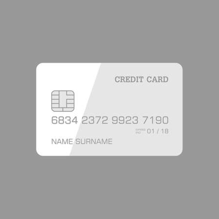 monocrome: Credit card monochrome, for shop. vectoe format. Illustration