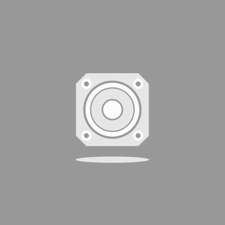 Speaker square, vector format. For the musical theme.
