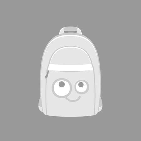 provocative: backpack with a muzzle for girls, pink, vector format.