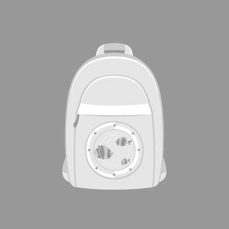 backpack with portholes for tourists, blue. vector format.