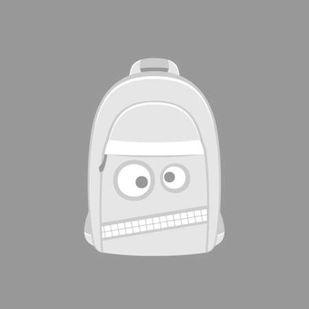 wicked: backpack with a wicked muzzle for boys, green, vector format.