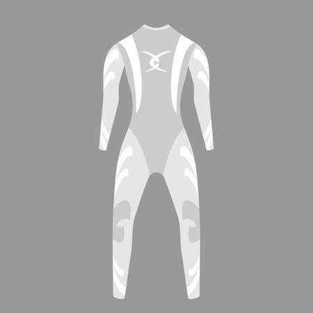 wetsuit: Diving wetsuit. grey color. vector format.