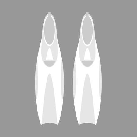 galoshes: Diving fins. grey colors. vector format.