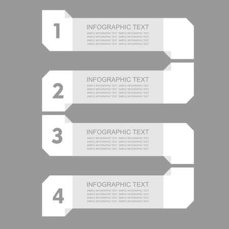 infogaphics: Infogaphics simple. 4 steps - grey color. vector format.