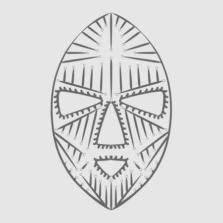african mask: African mask for clothes. vector format.