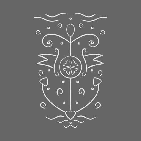silk screen: anchor pattern on a gray background. vector format.