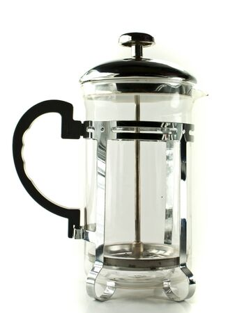 Coffee press isolated on the white background