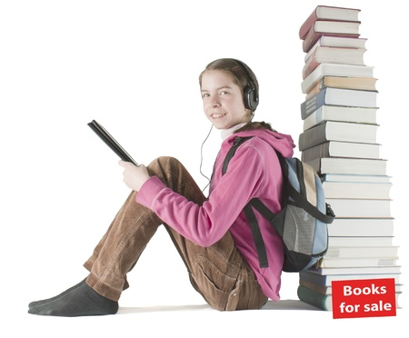Printed books for sale due the electronic era Stock Photo - 9497064