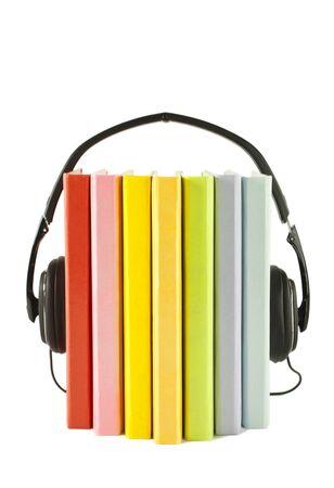bibliotecas: Concepto de audiolibros Foto de archivo