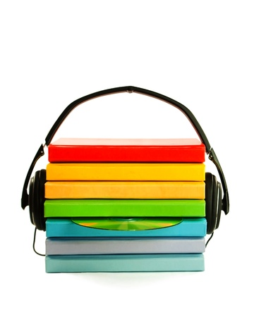 electronic background: Audiobooks concept Stock Photo