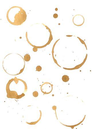 manchas de cafe: Impresiones de caf� derraman sobre el libro