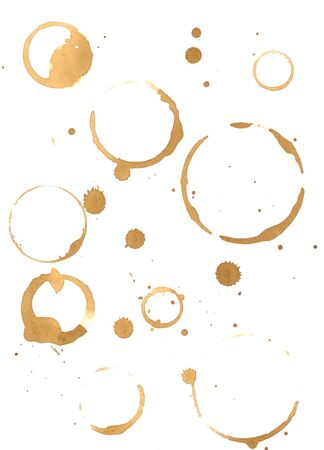 Prints of coffee spilled on the paper Reklamní fotografie