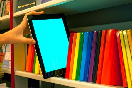 ebook: Hand holding a tablet PC