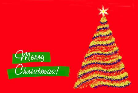 赤い背景の上のクリスマスの挨拶