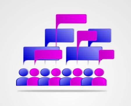 socializando: Socializar concepto - personas que se comunican entre sí Vectores
