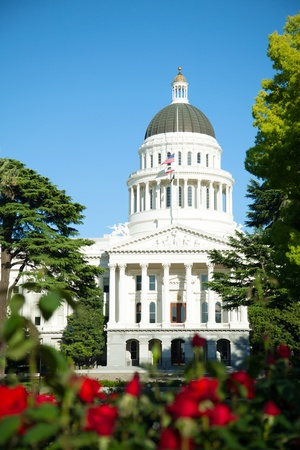 Capitol building in Sacramento, California in the sunny day photo
