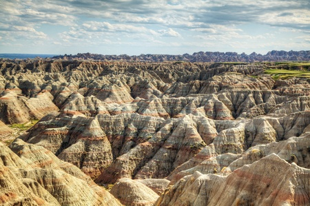 Scenic view at Badlands National Park, South Dakota, USA in the day light photo